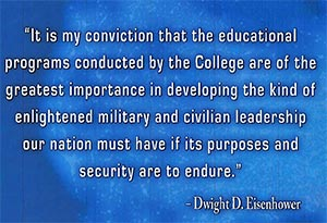 Eisenhower quote - the importance of educational programs of the college